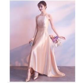 パーティードレス 披露宴 Aラインドレス 安い ウエディングドレス 二次会 花嫁イブニングドレス 結婚式  ロングドレス