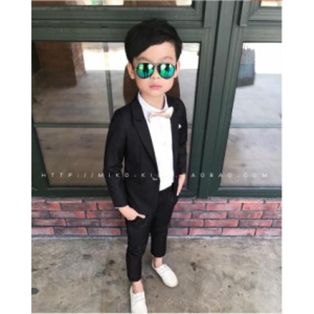 【男の子スーツ】子供服上下セット 発表会 結婚式 キッズ ジュニア 卒園式 卒業 式紳士服 ・入学式 ピアノスーツ誕生日ベビースーツ