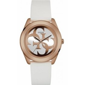 【当店1年保証】ゲスGuess G Twist White Dial Silicone Strap Ladies Watch W0911L5