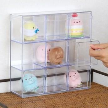 小物入れ 引き出し ミニ プラスチック クリア 卓上 透明 収納 3段×3列 デスコシリーズ ( 小物収納 小物ケース コレクションケ