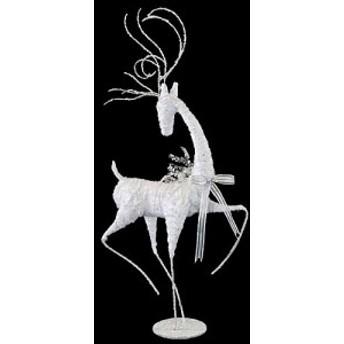 クリスマス装飾 飾り付け 小物 100cmホワイトスレンダーレインディア [DIRE6951]【トナカイ 人形 置物】