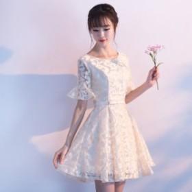 ブライズメイドドレス  Aライン  フォーマル ショート丈ワンピ  パーティードレス  発表会ミニドレス キャバ嬢ドレス