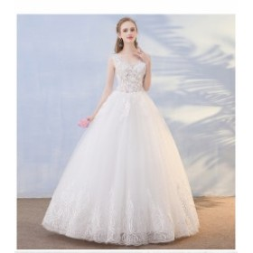 オフショルダー 豪華 大人気 ウェディングドレス 簡約 ロングドレス パーティードレス 披露宴 結婚式 撮影 編み上げ