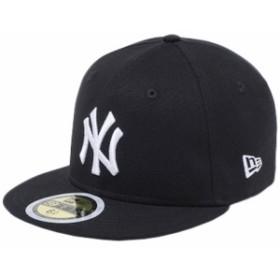 【新品】ニューエラ 5950キッズ キャップ ホワイトロゴ ダックキャンバス ニューヨークヤンキース ブラック New Era NewEra