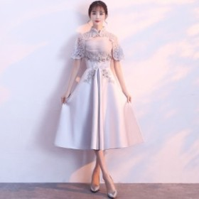2WAY 花柄刺繍 ドレス レディース