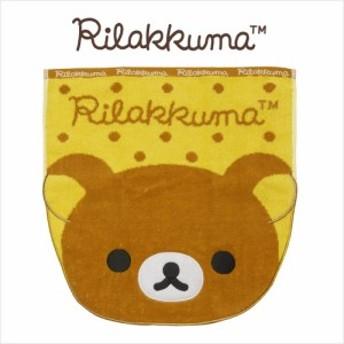 リラックマ(Rilakkuma) ダイカットフェイス型 ウォッシュタオル サイズ/(約)34×36cm