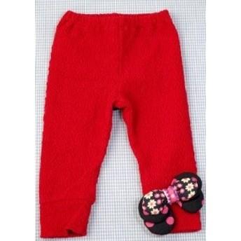 フォーティーワン FORTY ONE レギンス 長ズボン 90cm 赤 リボン 女の子 キッズ 子供服