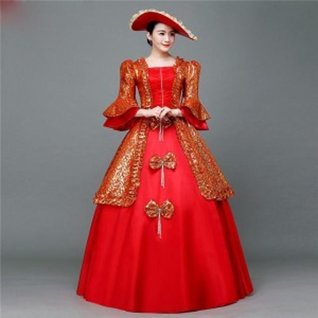 0dbf0b2b079c4  受注生産 レッド ドレス オペラ 声楽 貴族風 豪華 お姫様 カラードレス 舞台 ステージ