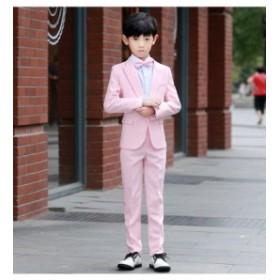 新品★豪華感 子供スーツ ピンク 男の子 卒業式 フォーマルスーツ 5点セットキッズ 成人式 大人気 出演 入学式