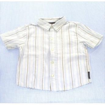 カルバンクライン Calvin Klein 半袖シャツ 80cm 水色系 ストライプ 男の子 キッズ 子供服