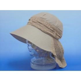 春・夏! 帽子 Gypsophia 後タレ付き婦人帽 KOU-001