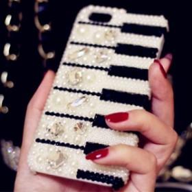 iphone6s Plus/iPhone6 Plus/iPhone7 Plus/iPhone7/iPhone8 Plus/iPhone8/iPhoneXケース贅沢な宝石ダイヤモンドピアノケース【jmzs591】