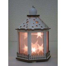 クリスマス ( ノルディックウッド スターランタン Lサイズ  ホワイト )  飾り 置物 ASR