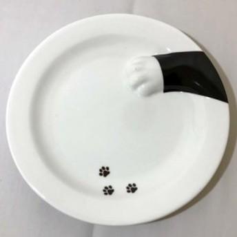 どろぼう猫プレート くろねこ 皿 丸皿 食器 面白 おもしろ雑貨 おもしろグッズ ねこグッズ 猫雑貨 ランチプレート カレー皿