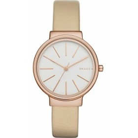【当店1年保証】スカーゲンSkagen Women's SKW2481 Ancher Beige Leather Watch