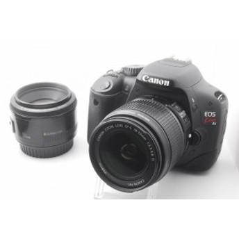 【中古 保証付 送料無料】Canon デジタル一眼レフカメラ EOS Kiss X4 『オリジナルダブルレンズ』 / 一眼レフカメラ/初心者/送料無料