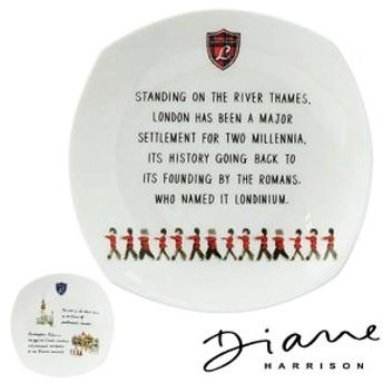 プレート 19cm 洋食器 LONDON ダイアン・ハリソン ( ボーンチャイナ 電子レンジ対応 食器 器 皿 中皿 オシャレ イギリス )