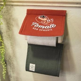 &Green ペーパーホルダーカバー TOMATO ( トイレットペーパー ペーパーカバー トイレ用品 ペーパーホルダー 洗える トイレットペーパ