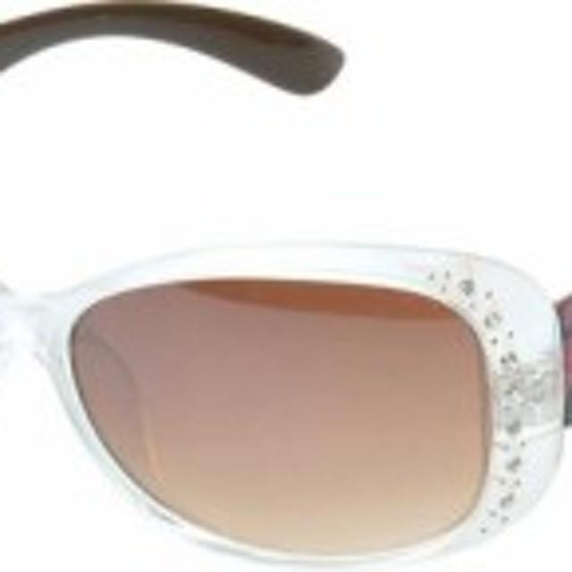b1acbf64f484 SWG エスダブリュージー サングラス レディース【Amelia Rhinestone Studded Oval Sunglasses  SWGW3141】Clear/