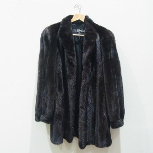 be888ff889468 エンバ ブラックグラマ ミンク 高級 毛皮 コート 76cm 5A 小物 中古 ...