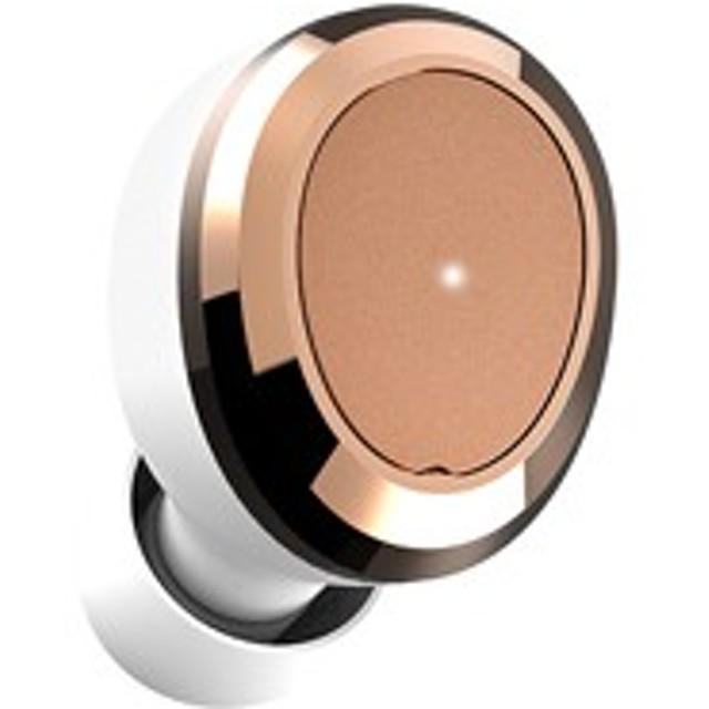 ディアーイヤー DE-TW02-WHT 完全ワイヤレス Bluetoothイヤホン(ホワイト/ゴールド)Dearear OVAL White[DE0102]【返品種別A】