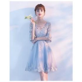 新品☆ミニドレス プリンセス イブニングドレス ワンピース パーティードレス   結婚式 お呼ばれ 二次会 ウエディング