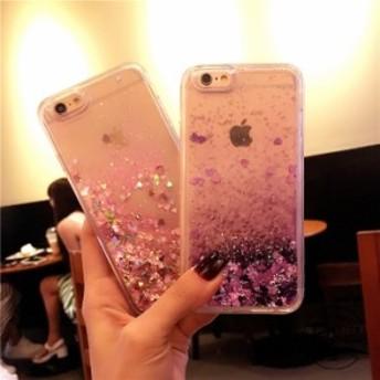 スマホケース iPhone8iPhone8plus iPhone7 iPhone7plus iPhone6s iPhoneplusケース液体流砂キラキラアイフォンケースS0011