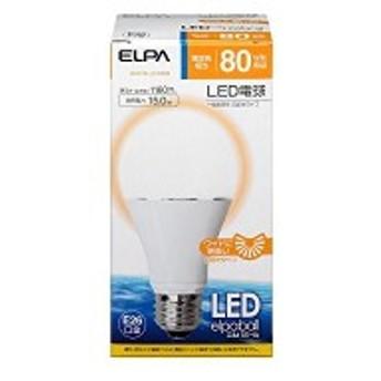 ELPA LED電球 一般電球A形 80W形 口金直径26mm 電球色 広配光 LDA15L-G-G599