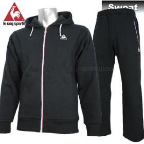 le coq sportif ルコック 裏起毛 スウェット ジャケット パンツ 上下 QB560373 QB460373 BLK ブラック