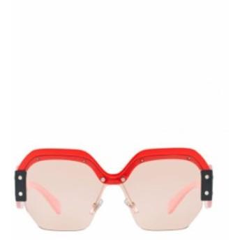 Miu Miu レディース サングラス 送料無料 Pink Irregular Sunglasses