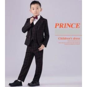 子供スーツ 男の子 キッズ フォーマル コート 洋服 卒業式 入学式 七五三 タキシード ベビー チェック スーツ