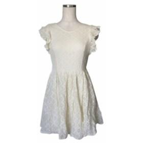 dazzlin ダズリン フレアレースワンピース (白 刺繍 ドレス フォーマル パーティ) 110625【中古】
