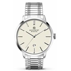 【当店1年保証】アキュリストAccurist Mens Quartz Cream Dial Expanding Bracelet Watch 7134