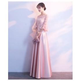 ロングドレス ピアノ演奏会 プリンセス ブライズメイドドレス イブニングドレス ワンピース司会者 同窓会 年会お呼ばれ