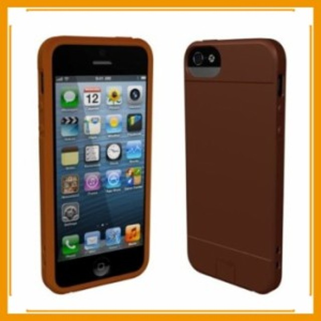 0ac257cb74 メール便送料無料 スマホケース カバー iPhone5 5s se Sumajin ブラウン 茶 スクリーン保護フィルム Slim