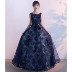 ハイエンド 結婚式 パーティードレス 花柄★ウェディングドレス  花嫁 二次会 ナイトドレス 編み上げ