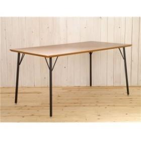 木目調ダイニングテーブル/リビングテーブル [長方形 幅150cm] スチール脚 『MONTシリーズ』