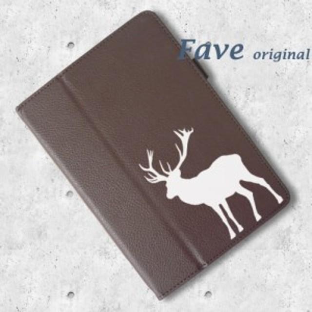 ヘラジカ タブレットケース iPad 手帳型 鹿 動物園 生き物 動物 タブレットカバー