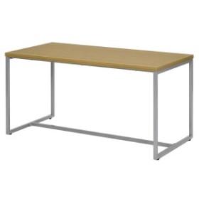 応接テーブル スチール製 ループ脚テーブル 幅110cm ( 送料無料 ソファ 応接室 オフィス家具 ウォルナット ナチュラル テーブル ミー