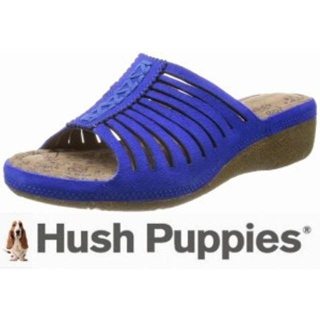 婦人 【新品】 65%OFF ハッシュパピー Hush Puppies オープントゥサンダル 大塚製靴製品 つっかけ 青/ブルー L-05026400
