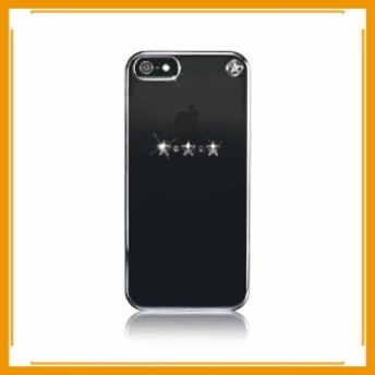 メール便送料無料 スマホケース カバー iPhone5 5s se スワロフスキー メタリックミラー クリアー クリスタル スクリーンプロテクター