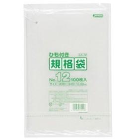 規格袋ひも付 12号100枚入03LLD透明 LK12 [(40袋×5ケース)合計200袋セット] 38-469