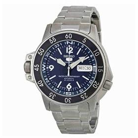 【当店1年保証】セイコーSeiko Men's Automatic Stainless Steel Dress Watch, Color:Dark blue silver-