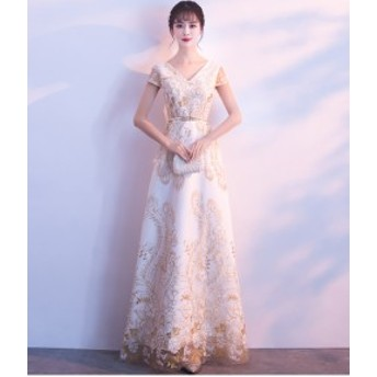 新品☆イブニングドレス花嫁 パーティドレス  ウェディングドレス 忘年会 披露宴 お呼ばれドレス ロングドレス   プリンセス