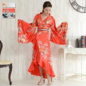 着物 ドレス 花魁 コスプレ よさこい 衣装 Jewel ジュエル 花魁ドレス 着物ドレス 和柄 フリル