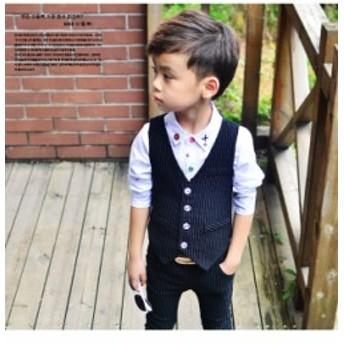 子供スーツ 2点セット ベスト ズボン フォーマル 発表会入学式 スーツ 男の子 キッズ ジュニア 紳士服 七五三 こどもスーツキッズ