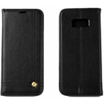 Samsung Galaxy S8 Plus SC-03J SCV35用 PUレザー カード収納 ビジネス 横開きタイプ ケース カバー#ブラック【新品/送料込み】