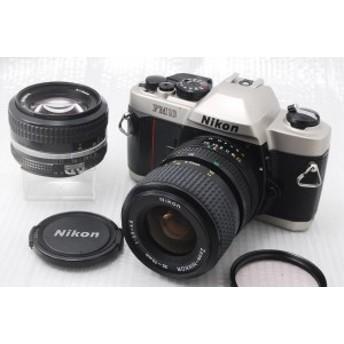 【中古 保証付 送料無料】Nikon 一眼レフカメラ FM10 標準セット『当店オリジナルWレンズセット商品』