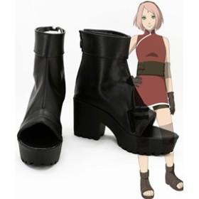 Gargamel  コスプレ靴 NARUTO -ナルト The Last 春野桜 コスプレブーツ オーダーサイズ製作可能m2391