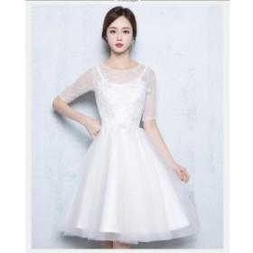 カラードレス ベアトップミニドレスパーティードレス 結婚式  ウェディングドレス 花嫁 大きいサイズ 演出 二次会 ステージ